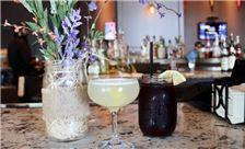 Rye Bar & Southern Kitchen - Blueberry and lemon cocktail