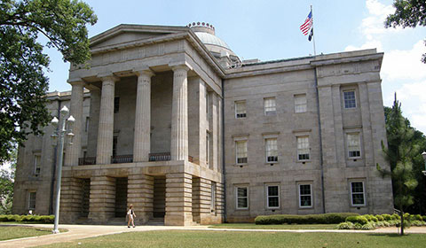 Historic NC State Capitol Building at Raleigh